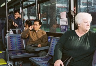 Ted on bus